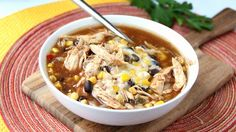 Slow-Cooker BBQ Chicken Soup