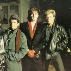 "Duran Duran on ""New Moon On Monday"" set"