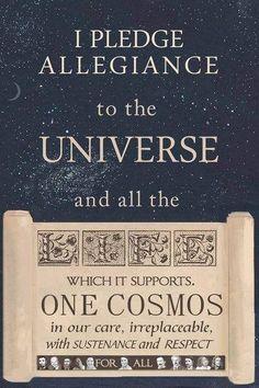 I pledge allegiance to the universe / Insight <3