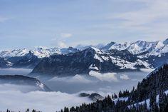View of the Stanserhorn from Mount Pilatus Central Switzerland [60004000] [OC] #reddit
