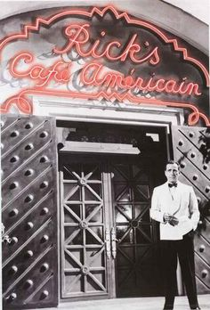 A great poster of Humphrey Bogart in front of Rick's Cafe American from the classic movie Casablanca! Published in 2008. Fully licensed. Ships fast. 24x36 inches. Need Poster Mounts..? bm9140