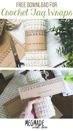 Free Download for Crochet Tag Wraps/ Crochet Labels - Megmade with Love