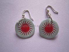 Handmade Jewelry - Paper Punch Disk Earrings (2) by fah2305, via Flickr