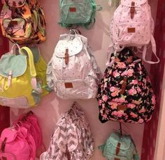 Victoria secret pink backpacks love them all Michaela, Cute Backpacks, Teen Backpacks, School Backpacks, Pink Nation, Backpack Purse, Floral Backpack, Cute Bags, Victoria Secrets