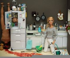 Call me creepy, but this hilarious. Murder Barbie
