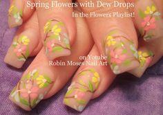 Nail Art Tutorial | Dewdrop Nails | Gel Water Droplet Floral Nail Design!