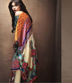 Sana Safinaz Silk collection 2015 SL_3B