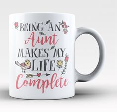 Being a Nanny Makes My Life Complete If your grand kids complete your life then this mug is for you. Order one today! Take advantage of our Low Flat Rate Shipping - order 2 or more and save. Nanny Quotes, Auntie Quotes, Nephew Quotes, Bob Marley, Niece And Nephew, Cousin, Celebration Quotes, Personalized T Shirts, Tea Cups