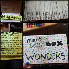"""My boyfriend and I go to the same University but live three hours away. So this summer I decided to do the """"open when..."""" letters for him and put them in a little box with instructions. I'm never one to do cute crafty things but I liked doing this a lot! & I think he'll like this too"""