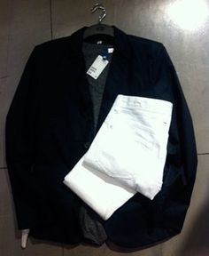 H&M Blazer + White Jeans