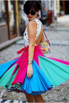 Colorful dress!