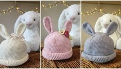 crochet for babies: bunny hats for babies by Kate Eastwood