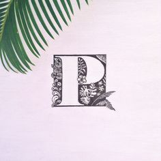 Tropical P design | Negative space © Alex Cuesta 2015, all rights reserved. #tropical #typography #p