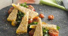 Pascale Naessens - Graskaas met sesamzaadjes, gare tomaatjes en verse kruiden