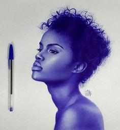 Incredible Ballpoint Pen Drawings by: Mostafa Desha