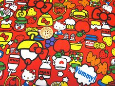 Hello kitty fabric Red color Half yard  Japanese by HanamiBoutique, $15.40