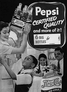 This 1940s ad for Pepsi is one of the first ads specifically targeted toward African Americans. The young boy pictured is Ron Brown, future United States Secretary of Commerce.