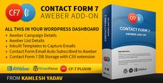 Contact form 7 Aweber Add-on - Forms