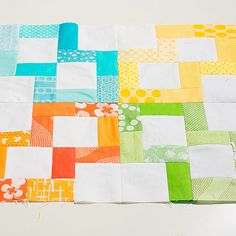 "Crossroads block tutorial from Threadbias - another way to use up some 1.5"" strips!"