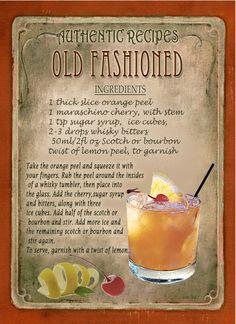 ✔ Cocktails Videos Whisky Old Fashioned - Trinken Mezcal Cocktails, Cocktail Drinks, Cocktail Recipes, Liquor Drinks, Bourbon Cocktails, Alcoholic Drinks, Beverages, Whiskey Cocktails, Whisky