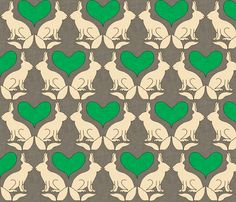 $18 rabbit_and_heart_kelly_linen fabric by holli_zollinger on Spoonflower - custom fabric