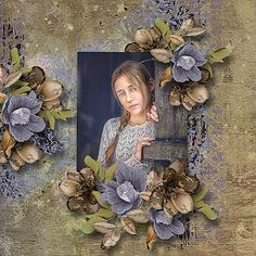 "Just Art July mini kit challenge ""Potpourri"" by Kakleidesigns photo Adam Wawrzyniak use with permission Rose Thorns, Potpourri, Poppies, Floral Wreath, Challenges, Kit, Frame, Scrapbooking, Painting"
