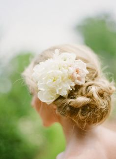 Real Flower Up-do