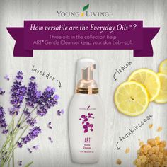 Baby Soft skin, how to naturally care for your skin with essential oils like lemon and lavender.