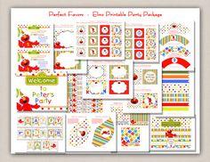 Elmo Birthday Party Package. $15.00, via Etsy.