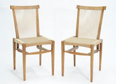 1953 Irving Sabo String Dining Chairs for J.G. Johnson Furniture Company   From a unique collection of antique and modern dining room chairs at https://www.1stdibs.com/furniture/seating/dining-room-chairs/