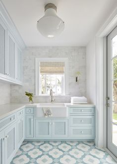 Blue Laundry Rooms, Laundry Room Cabinets, Blue Cabinets, Laundry Room Design, Küchen Design, House Design, Interior Design, Design Ideas, Laundry Room Inspiration