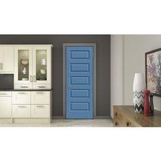 Jeld-Wen Blue Heron Prehung Hollow Core 5-Panel Equal Interior Door (C
