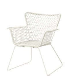 Hogsten chair from Ikea With handwoven lattice detailing, this chair is a smart, affordable choice, perfect for summer entertaining. Use as a standalone piece or as part of a dining set. Hogsten chair x x Ikea AS END CHAIRS FOR DINING TABLE? Ikea Outdoor, Outdoor Dining Furniture, Garden Furniture, Rustic Furniture, Ikea Patio Furniture, Furniture Ideas, Geek Furniture, Dining Table, Dining Sets