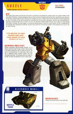 Transformers Universe - Gallery: G1 Guzzle