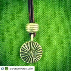 #Repost @laurenpowersstudio  Trippy little #HillTribeSilver drop necklace. #necklace #silver #handmade #beautiful