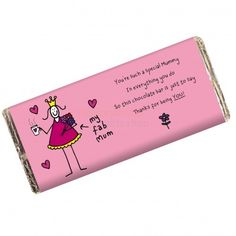 Personalised Purple Ronnie Fab Mum Chocolate Bar from Personalised Gifts Shop - ONLY £6.95