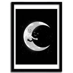 Fancy | Moon Hug Print by Carbine