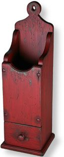 Pipe Box - Circa early 1770's. Nice red color.