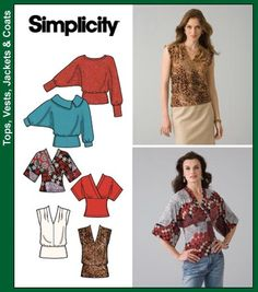 have the pattern, have the fabric... view E or D (kimono inspired empire waist top). Simplicity 4020, out of print