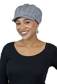 Button Jersey Cotton Slouch Bakerboy Chemo Hair Loss Headcover Bakerboy Cap Hat