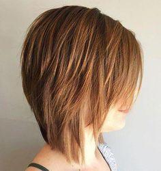 50 Most Universal Modern Shag Haircut Solutions Best Hairstyles Haircuts Asymmetrical Bob Haircuts, Bob Hairstyles For Fine Hair, Layered Bob Hairstyles, Hairstyles Haircuts, Short Haircuts, Medium Shag Hairstyles, Haircut Medium, Latest Hairstyles, Celebrity Hairstyles