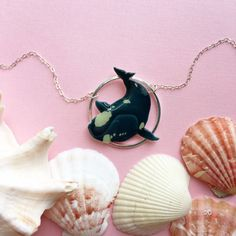 Right Whale Overlay Necklace on Etsy  #rightwhale #necklace #etsy #etsyfinds #jewelry #handmade #handmadejewelry #fashion #marinemammal #marinebiology #whales #whale #cetaean #animal #giftsforher #giftideas