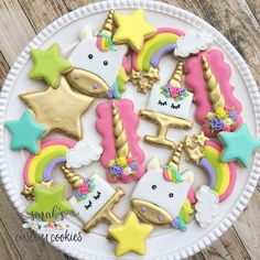 Cute unicorn sugar cookies