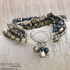 B1935 HAILSTONE STRETCH BRACELET from Jewelry & Fashion Accessories by Silpada Designs for $89.00 on Square Market