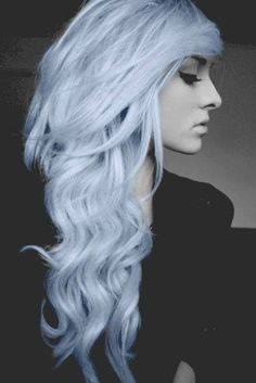 Pastel blue dyed hair - I must dye my hair this color!