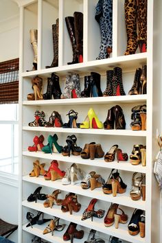 OMG I so want this & I have more than enough shoes to fill it! Shoe Closet @FortBend Lifestyles & Homes