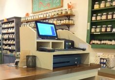 Rustic Wood Retail Store Product Display Fixtures & Shelving - Idea Gallery 3: Cash Wrap Sales Counters