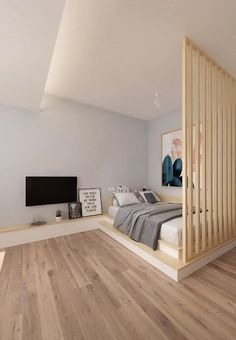Small Room Design Bedroom, Small House Interior Design, Bedroom Closet Design, Bedroom Furniture Design, Home Room Design, Modern Bedroom Design, Diy Furniture, Modern Bedrooms, Attic House Design