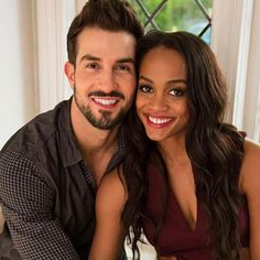 Bachelorette Rachel Lindsay and Bryan Abasolo for People's magazine.