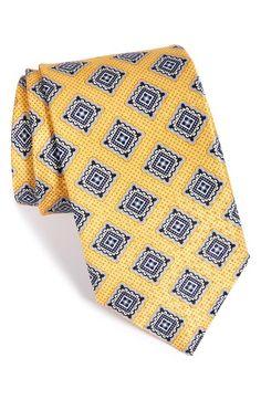 Men's J.Z. Richards Medallion Print Silk Tie